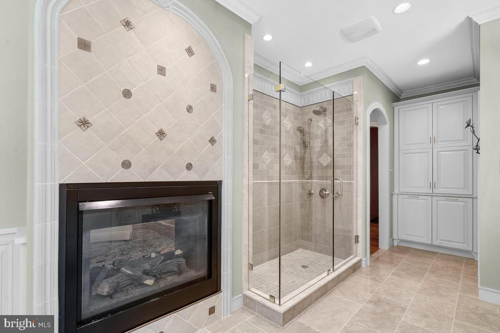 Master Bath: Fireside to keep the chill off - 20260 ISLAND VIEW CT, STERLING