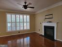 From Kitchen into Family Room -gas Fireplace - 25452 CROSSFIELD, CHANTILLY