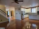 View from Family Room into Kitchen - 25452 CROSSFIELD, CHANTILLY