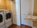 Upstairs Laundry - with folding table set up - 25452 CROSSFIELD, CHANTILLY