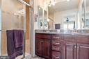Luxurious tiled  bath - 22469 VERDE GATE TER, BRAMBLETON