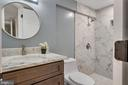 Full bathroom in the lower level - 2217 FRANKLIN ST NE, WASHINGTON
