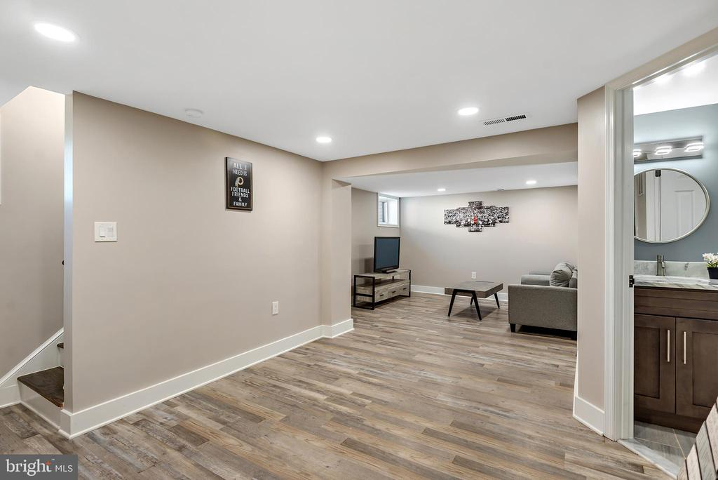 Lower level living space - 2217 FRANKLIN ST NE, WASHINGTON