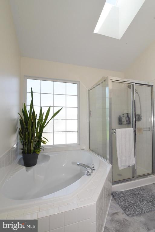 PRIMARY BATH WITH NEW SKYLIGHT - 112 CONNERY TER SW, LEESBURG