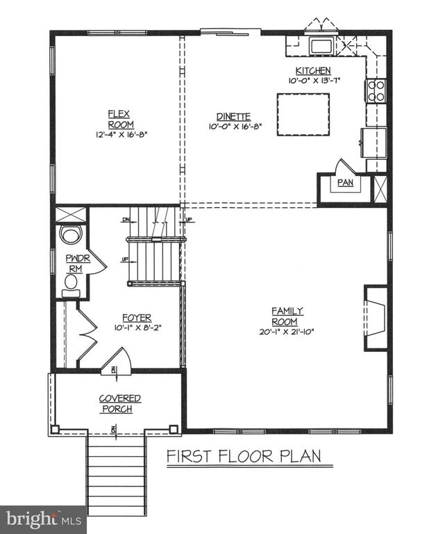 First Level Floor Plan - 9403 SIXTH ST, LAUREL