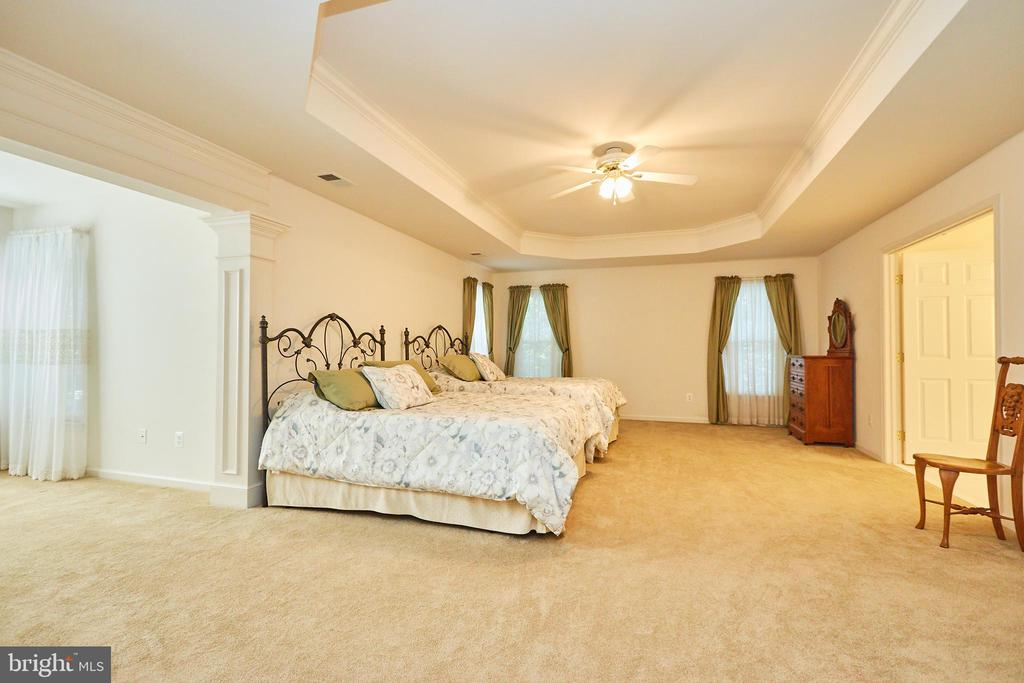 Large master bedroom suite with tray ceiling - 619 BRECKENRIDGE WAY, SHENANDOAH JUNCTION