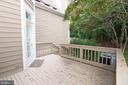 Rear Deck off Living Room - 11415 HOLLOW TIMBER WAY, RESTON