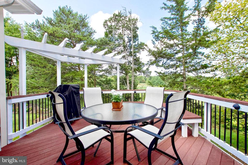 Deck with views of the golf course - 25659 TREMAINE TER, CHANTILLY