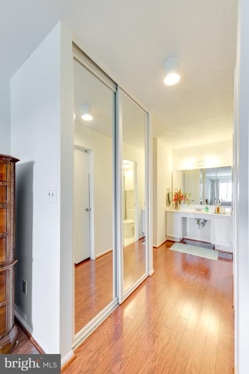 Primary Closet 1 of 2 with Floor 2 Ceiling Mirrors - 8340 GREENSBORO #903, MCLEAN