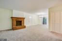 Wood burning fireplace - 1217 EASTOVER PKWY, LOCUST GROVE