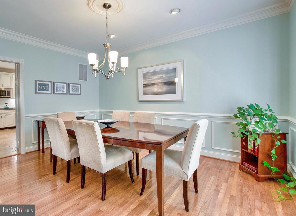 Lovely Formal Dining Room to the right of Foyer - 25659 TREMAINE TER, CHANTILLY