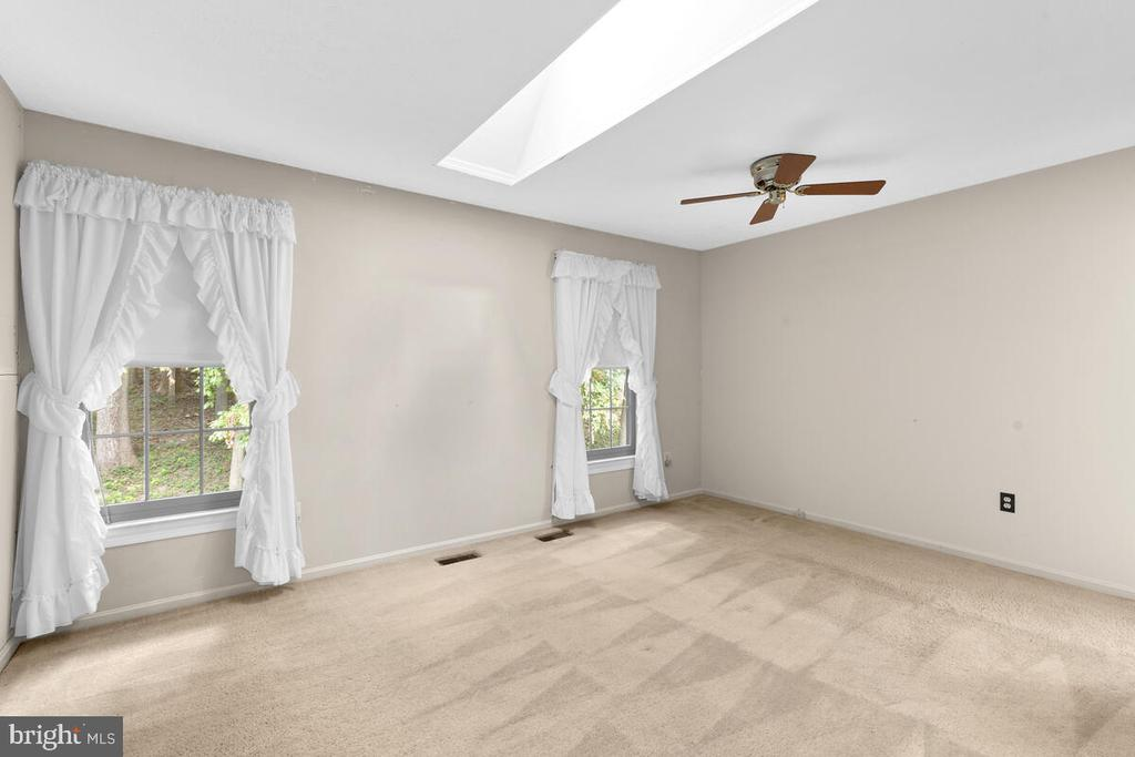 Bedroom 3 with Skylight & Ceiling Fan - 3000 BEETHOVEN WAY, SILVER SPRING