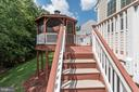Stairs w/entry and exit way to and from Deck - 7617 STRATFIELD LN, LAUREL