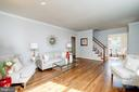 Note the newly refinished hardwoods - 6112 WOODMONT RD, ALEXANDRIA