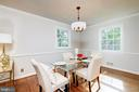 There is a formal dining room - 6112 WOODMONT RD, ALEXANDRIA