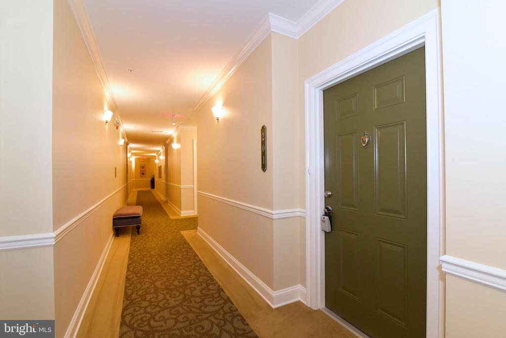 Unit Door - walls are not shared with other units - 9200 CHARLESTON DR #201, MANASSAS