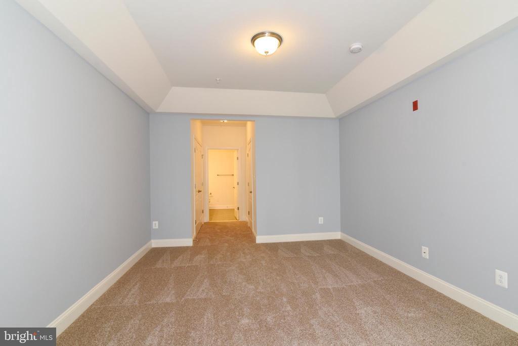 Master bedroom flows by 2 closets into bathroom - 9200 CHARLESTON DR #201, MANASSAS
