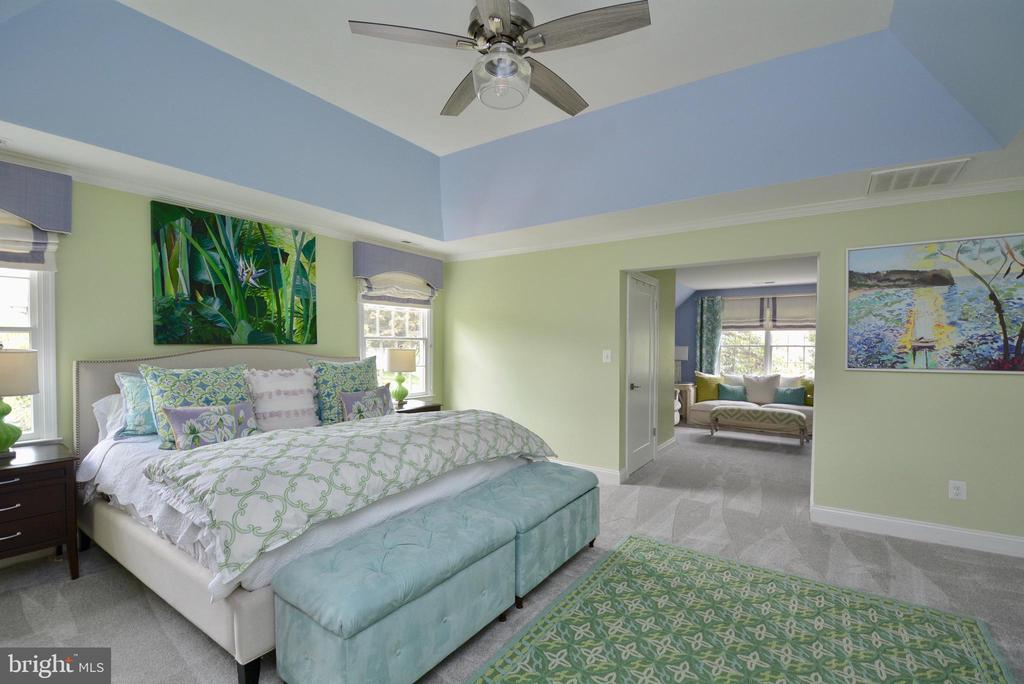 PRIMARY BEDROOM TOWARDS SITTING ROOM - 10203 BRITTENFORD DR, VIENNA