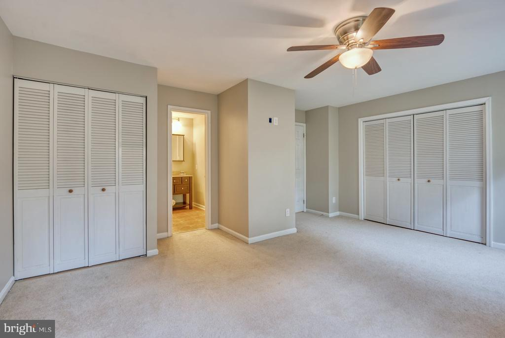two closets in primary bedroom - 4120 PLACID LAKE CT #66E, CHANTILLY