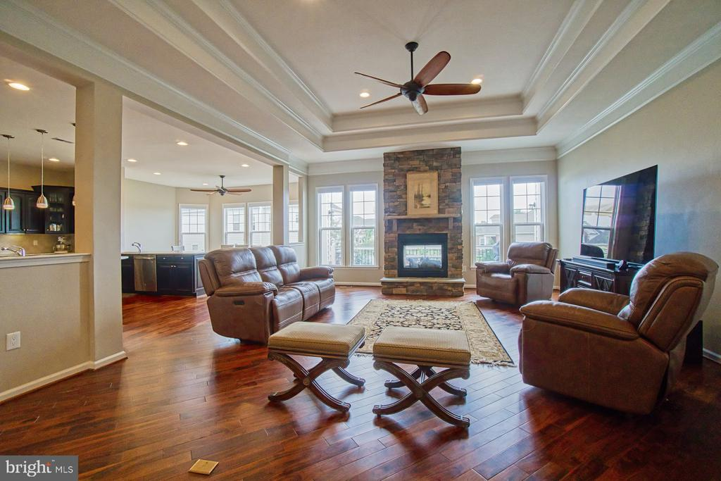 Beautiful ceiling/crown molding - 16604 FOX CHASE CT, LEESBURG
