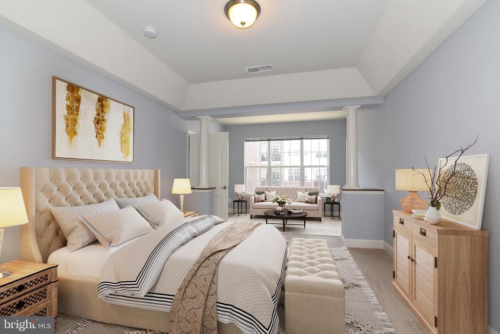 Master Bedroom w/sitting area-Virtually Staged - 9200 CHARLESTON DR #201, MANASSAS
