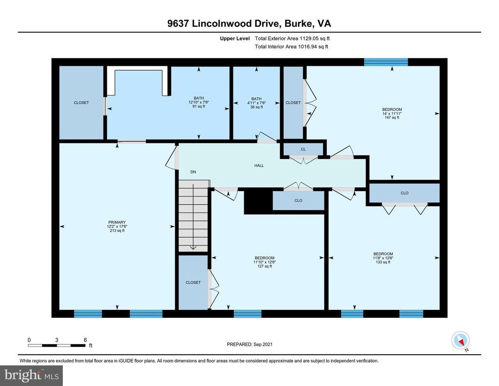 Floor Plan - Upper Level - 9637 LINCOLNWOOD DR, BURKE