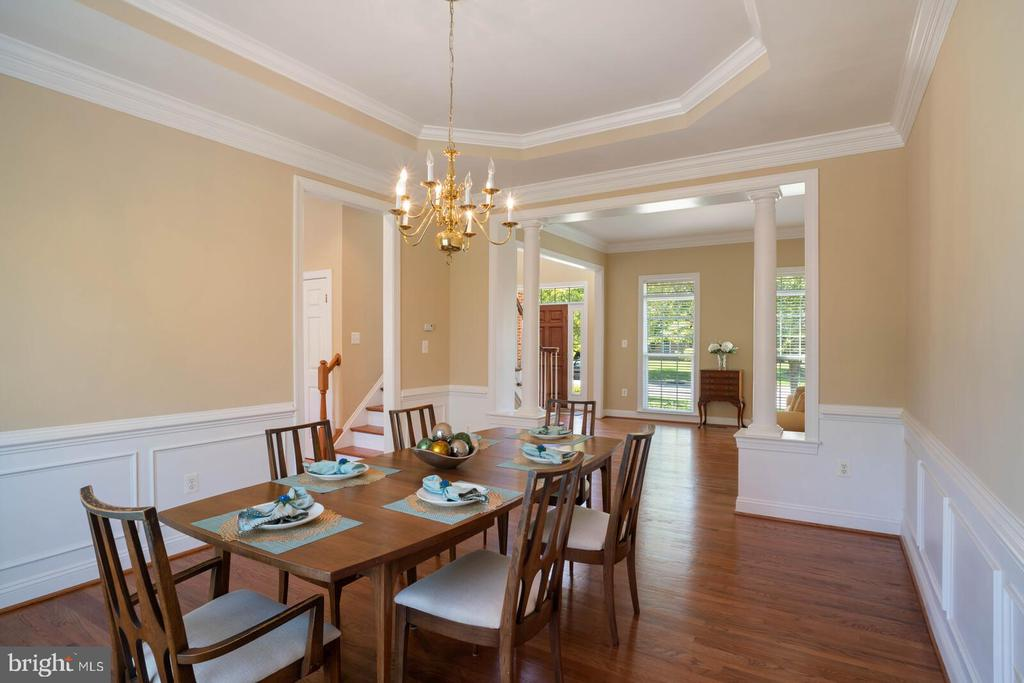 Elegant DR with Tray Ceiling and Tasteful Trim - 22554 FOREST RUN DR, ASHBURN