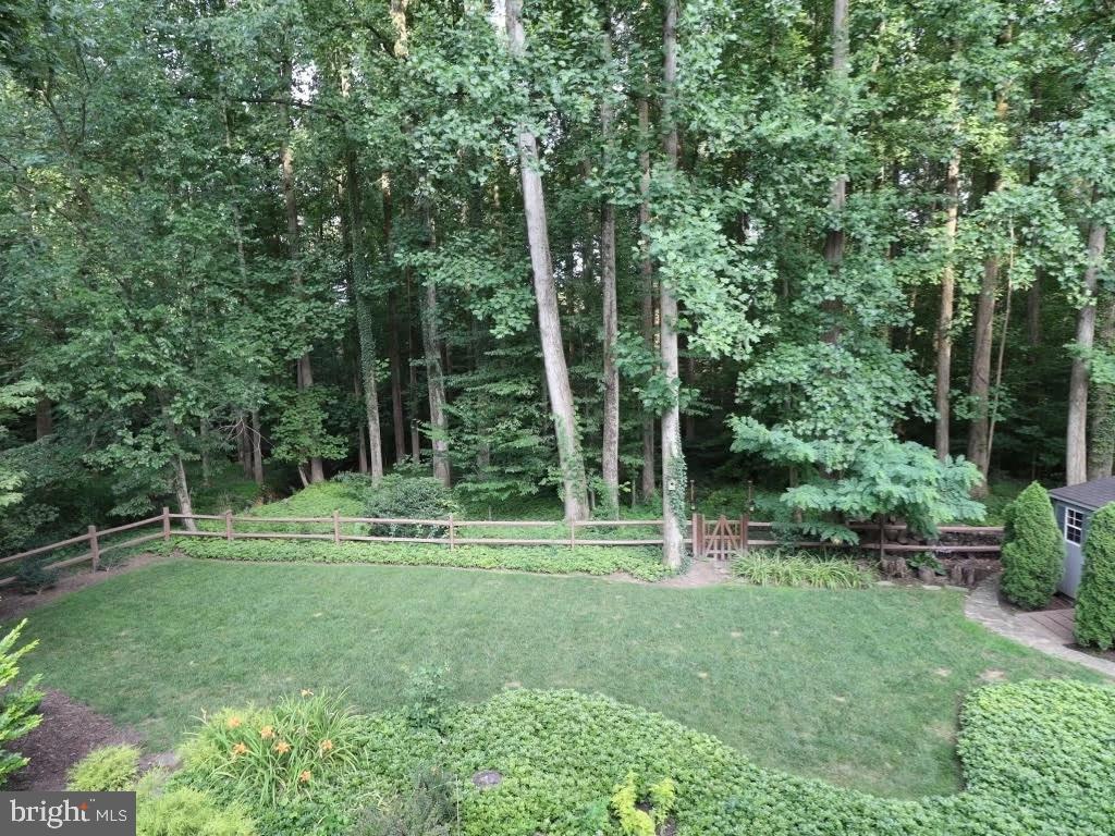 Rear yard backs to woods, trail, fully fenced - 4711 BRIAR PATCH LN, FAIRFAX