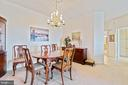 Din rm. looking into primary suite & kit entrance - 19375 CYPRESS RIDGE TER #711, LEESBURG