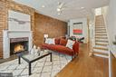 Open living and dining space. - 321 F ST NE, WASHINGTON