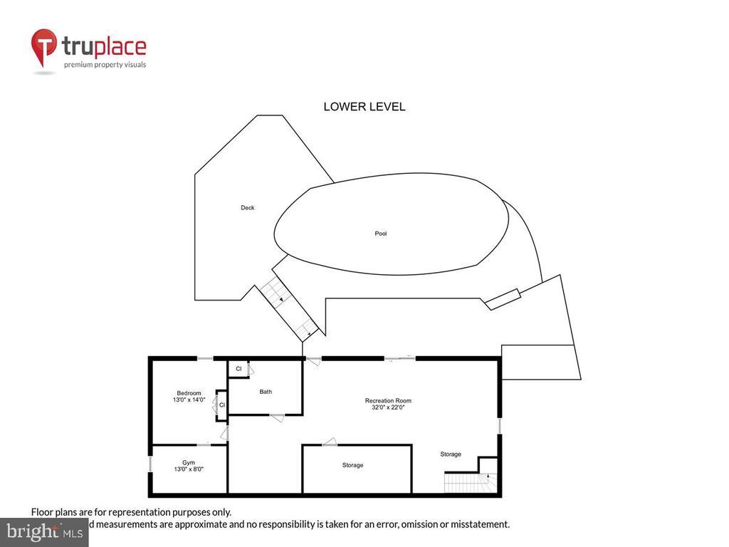 Lower level floor schematic - 10722 CROSS SCHOOL RD, RESTON