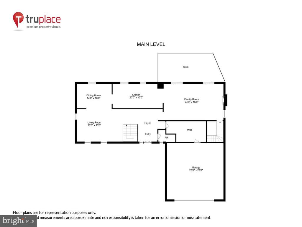 Main level schematic - 10722 CROSS SCHOOL RD, RESTON
