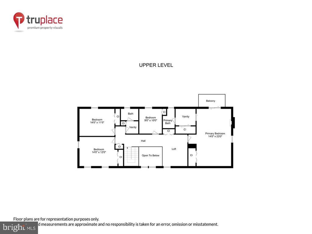 Upper level schematic - 10722 CROSS SCHOOL RD, RESTON