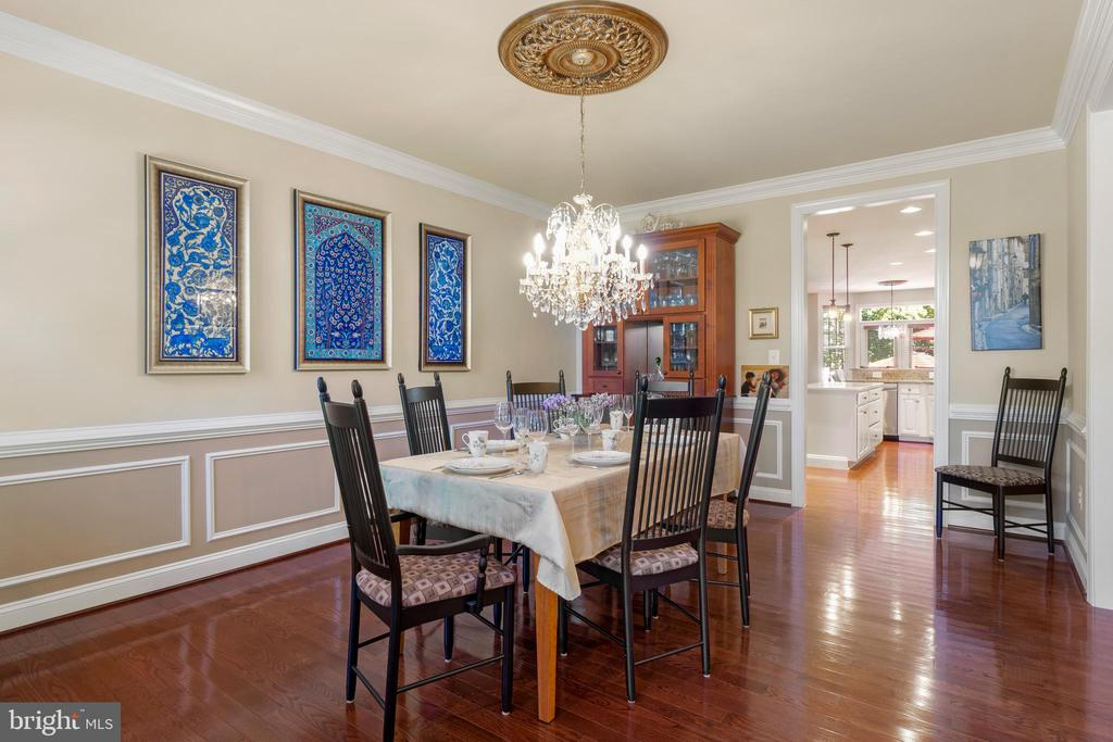 Dining Room with Crown Molding & Wainscoting - 11201 BLUFFS VW, SPOTSYLVANIA