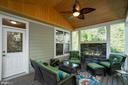 Screened Porch w/ Vaulted Pine Ceiling - 11201 BLUFFS VW, SPOTSYLVANIA