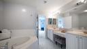Primary bath with double vanities - 12712 PIEDMONT TRAIL RD, CLARKSBURG