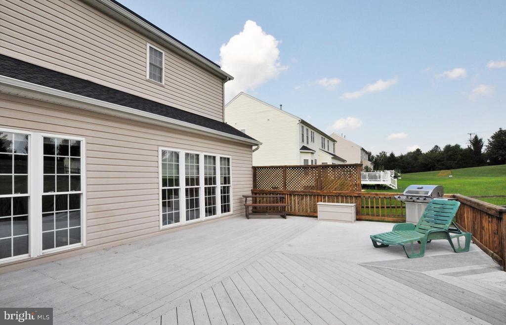 Huge deck overlooks level 1/2 acre fenced lot! - 15305 LIONS DEN RD, BURTONSVILLE