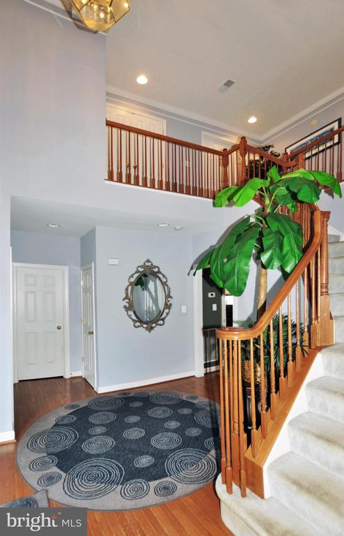 Elegant two story main entry foyer w/wood flooring - 15305 LIONS DEN RD, BURTONSVILLE