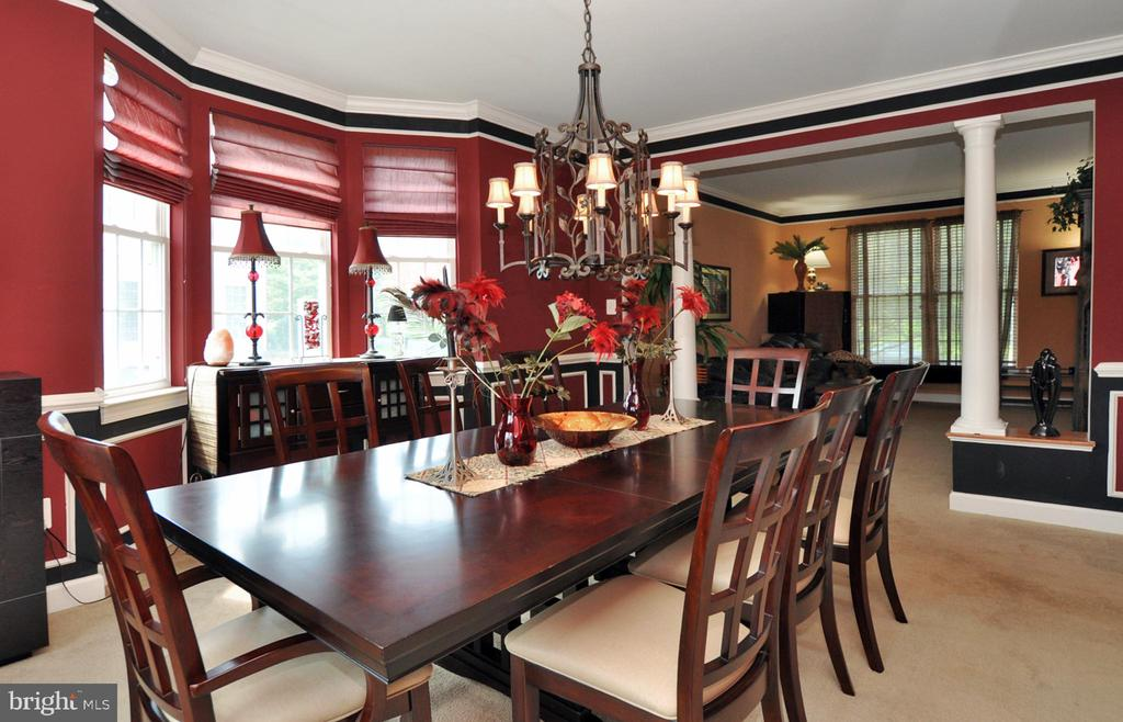 Large separate dining room with Bay window! - 15305 LIONS DEN RD, BURTONSVILLE