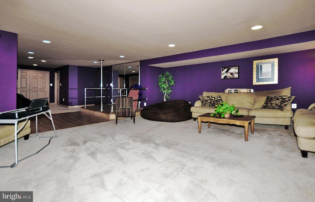 Huge lower level rec room with stage & dance area! - 15305 LIONS DEN RD, BURTONSVILLE