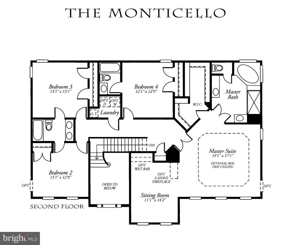Upper Level Floor Plan - 22554 FOREST RUN DR, ASHBURN