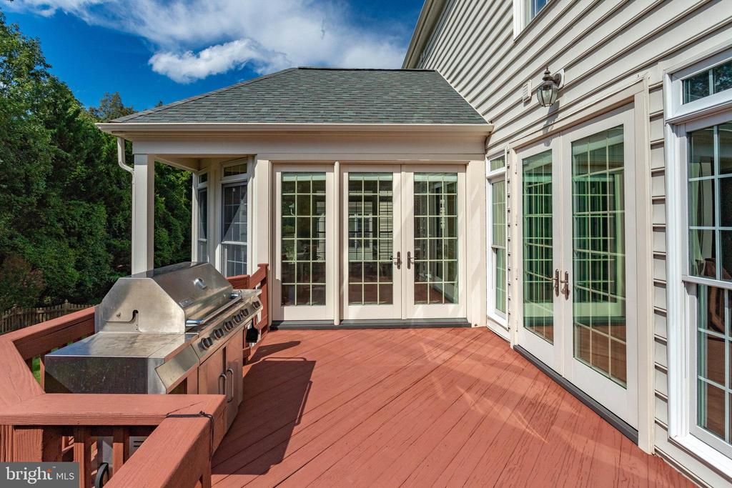 Gigantic Deck has room to grill! - 25891 MCKINZIE LN, CHANTILLY