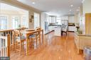 Eat-in Kitchen with gleaming hardwoods - 25891 MCKINZIE LN, CHANTILLY