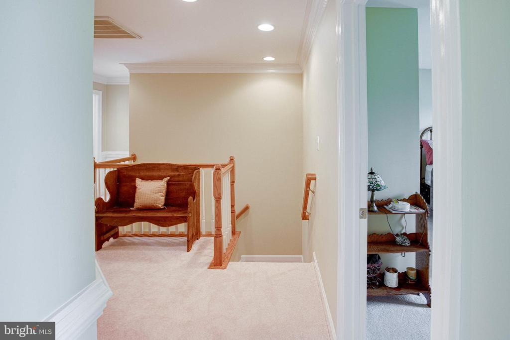 Upper Level Hallway shows top of rear staircase - 25891 MCKINZIE LN, CHANTILLY