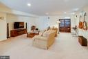 TV area in Rec Room - 25891 MCKINZIE LN, CHANTILLY