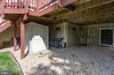 Storage shed under deck conveys - 25891 MCKINZIE LN, CHANTILLY