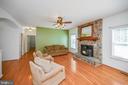 Lovely family room full of light - 12812 ORANGE PLANK RD, LOCUST GROVE