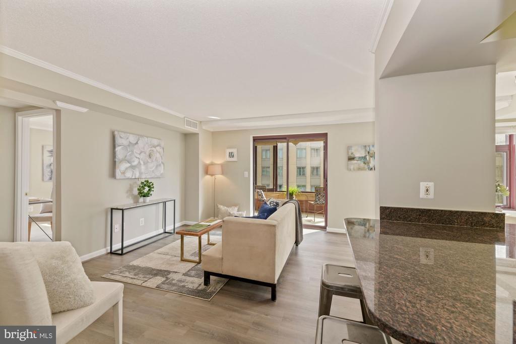 Bright and open living room - 2400 CLARENDON BLVD #505, ARLINGTON