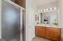 Primary Bath w/ Double Vanity, Sep Shower & Tub - 19406 COPPERMINE SQ, LEESBURG