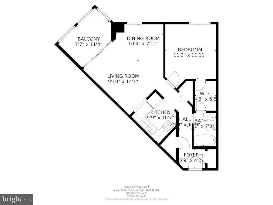 Floor Plan of Home - 1001 N RANDOLPH ST #604, ARLINGTON